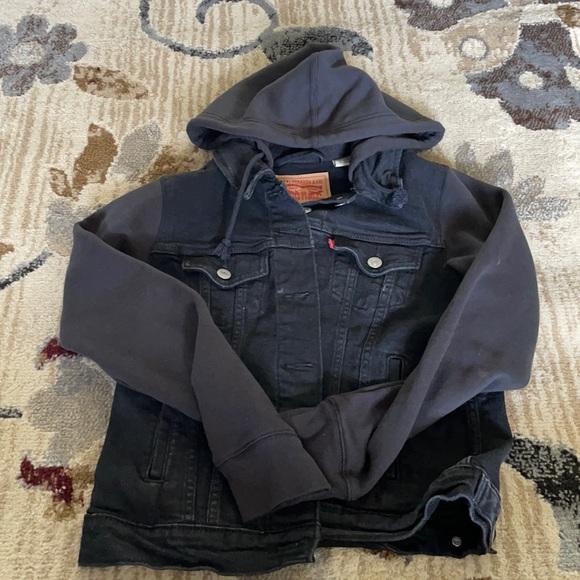 Levi's black jean jacket/hoodie
